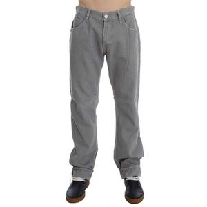 D30451-1 Gray Cotton Straight Fit Jeans